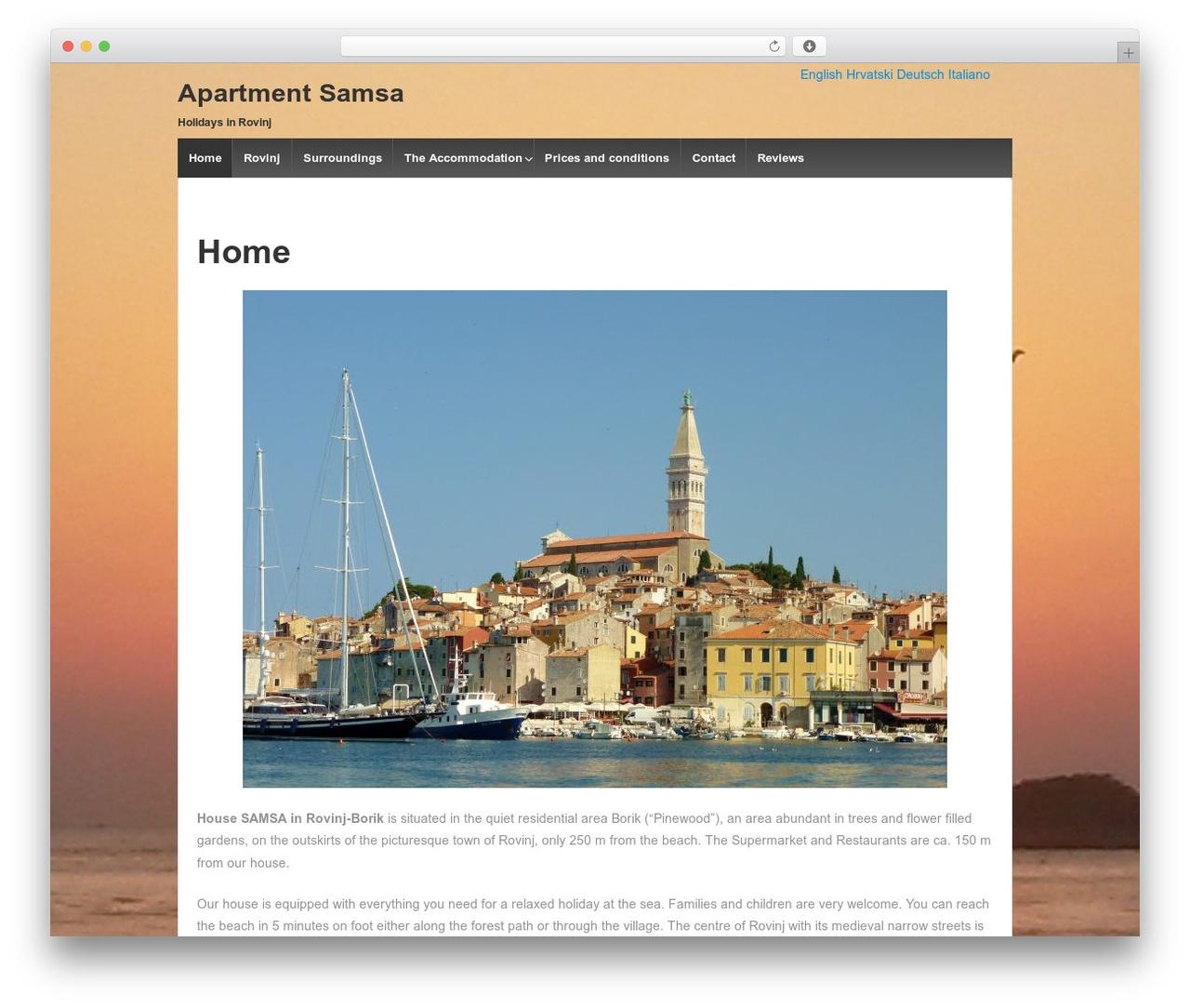 Template WordPress Responsive - apartment-samsa.com