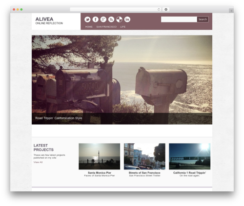 WordPress website template Yasmin - alivea.si