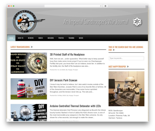World Wide WordPress website template - happytrooper.com