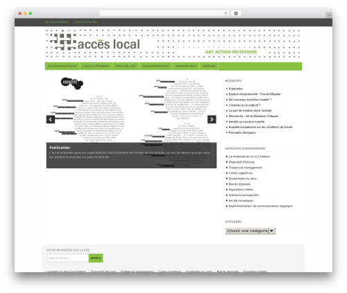 Best WordPress theme Project AR2 - acces-local.com