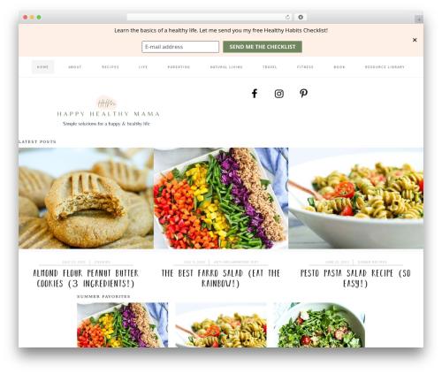 Cookd Pro Theme WordPress theme - happyhealthymama.com
