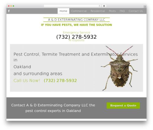 Pest Control V7 premium WordPress theme - adexterminatellc.com