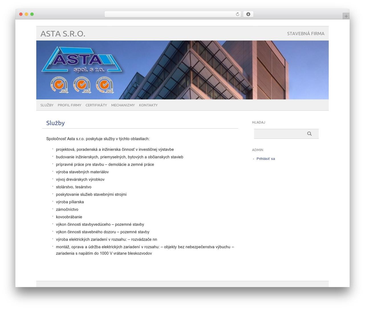 picolight business WordPress theme - astasro.sk
