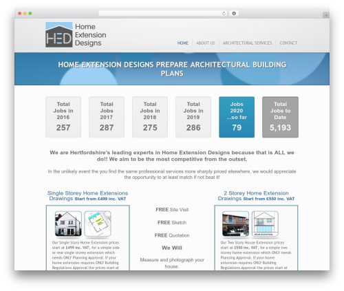 Template WordPress Inspire - homeextensiondesigns.com