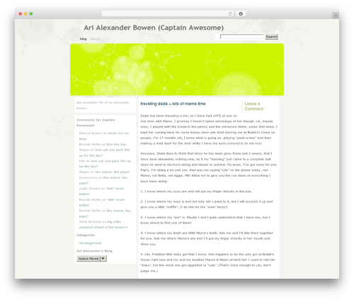 WordPress theme Fauna - arialexander.com