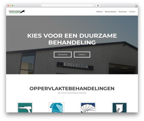 Zerif Lite WordPress theme - metaalatelierrijckaert.be