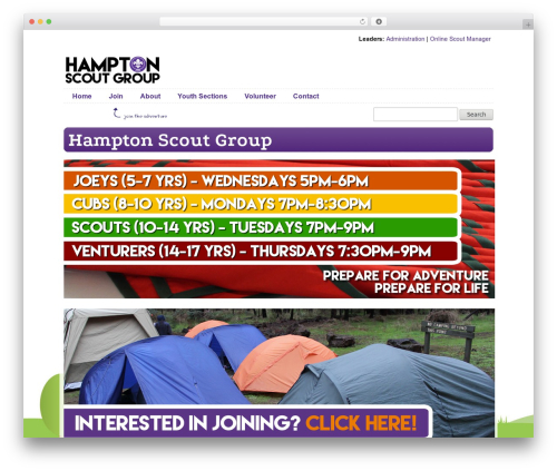 Best WordPress theme Scout IT! - hamptonscouts.com