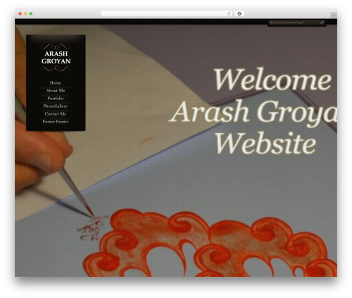 Chocolate WordPress website template - arashgroyan.com