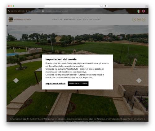 Holiday WordPress theme - allombradelsughero.com