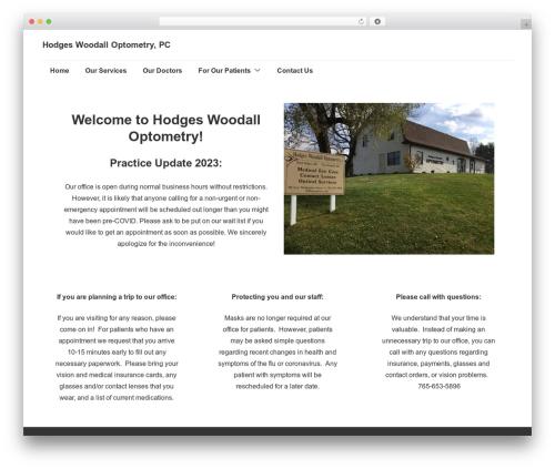 Responsive free website theme - hwoptometry.com