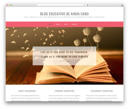 Sela WordPress blog theme - ainoacano.com