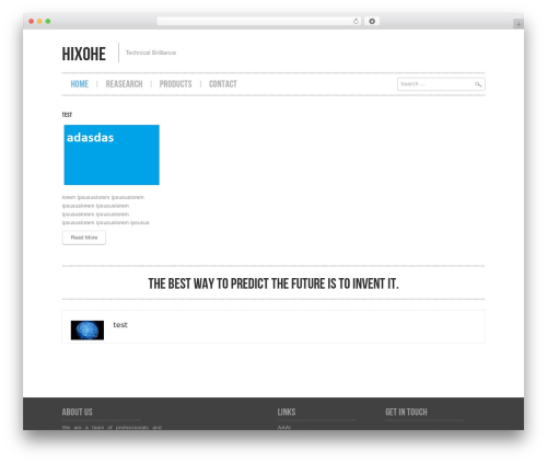 WordPress theme Hannari - hixohe.com