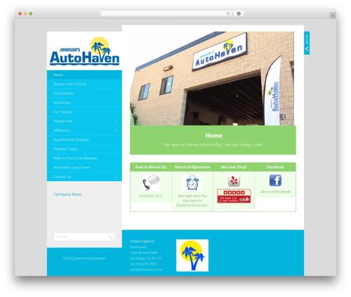 WordPress website template Foundation - autohaven.biz
