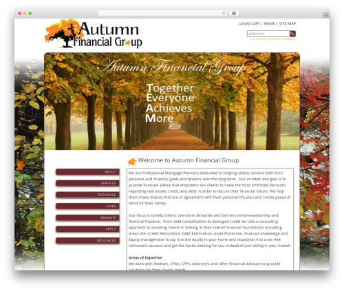 autumn WordPress website template - autumnfinancialgroup.com