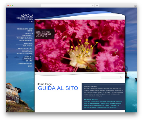 Biosphere best WordPress theme - adacqua.com