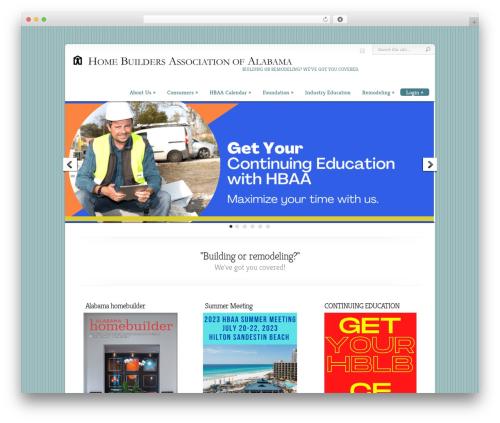 Chameleon WordPress website template - hbaa.org/wp
