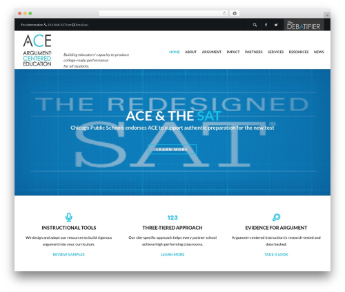 Elite WordPress blog theme - argumentcenterededucation.com