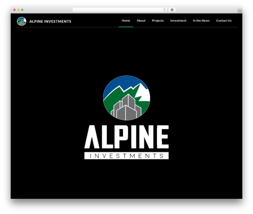 Investment WordPress page template - alpineinv.com