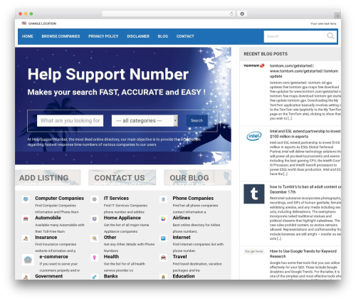 Responsive Business Theme best WordPress theme - helpsupportnumber.com