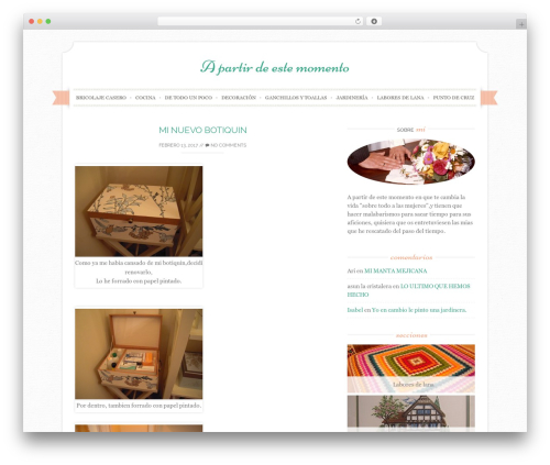 Sugar and Spice WordPress website template - apartirdeestemomento.com