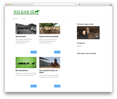 Template WordPress Split - hilbar.se