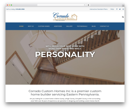 TheBuilt best WordPress template - corradohomes.com