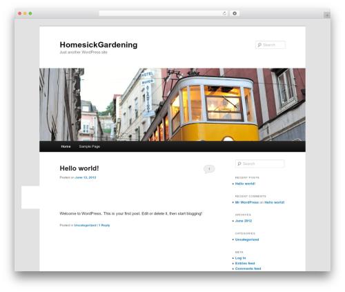 Twenty Eleven WordPress theme download - homesickgardening.com/blog