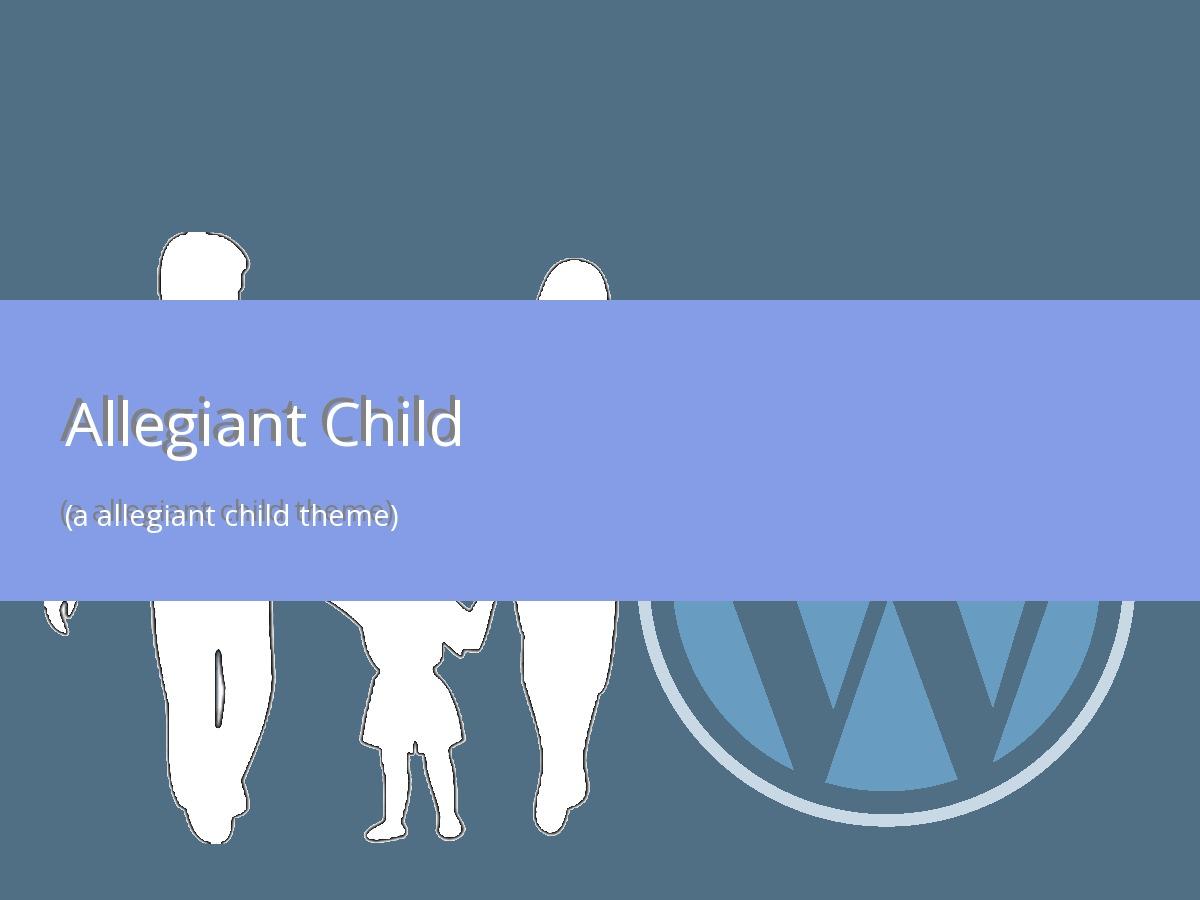 WordPress theme Allegiant Child