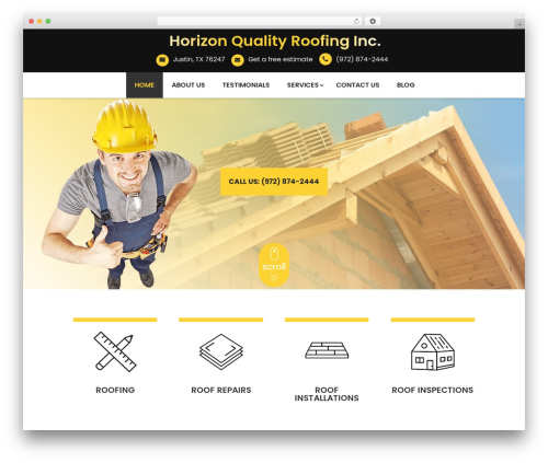 WordPress website template Divi - hqroofinginc.com