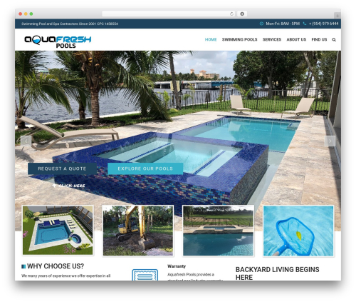 WordPress website template SwimmingPool - aquafreshpools.com