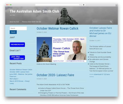 Free WordPress Contact Coldform plugin - adamsmithclub.com