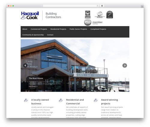Centum business WordPress theme - hacquoilandcook.com