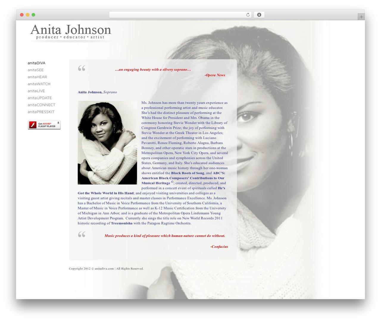 Exprecious template WordPress - anitadiva.com