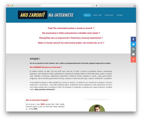 MioWeb 2.0 top WordPress theme - akozarobitnainternete.sk