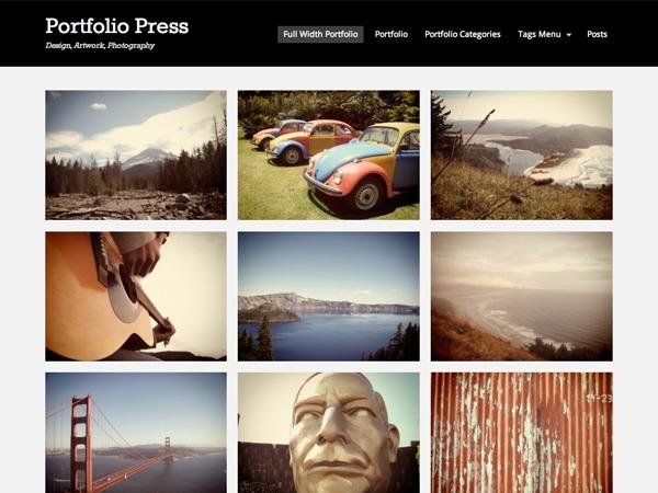 Portfolio Press Child 01 WordPress portfolio theme