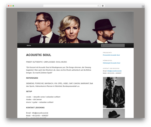 Free WordPress YouTube Channel plugin - acousticsoul.de