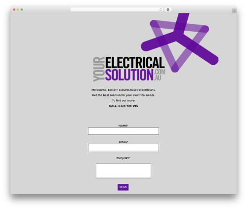 WordPress theme BLANK Theme - yourelectricalsolution.com.au