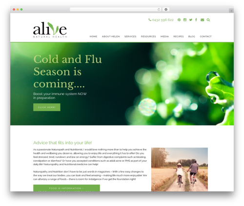 WordPress theme Stack Child - alivenaturalhealth.com.au