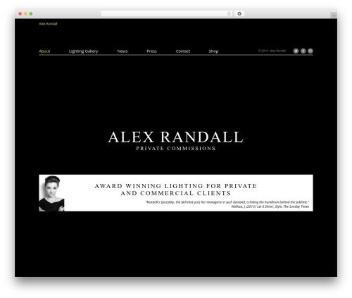 WordPress website template Agora - alexrandall.co.uk