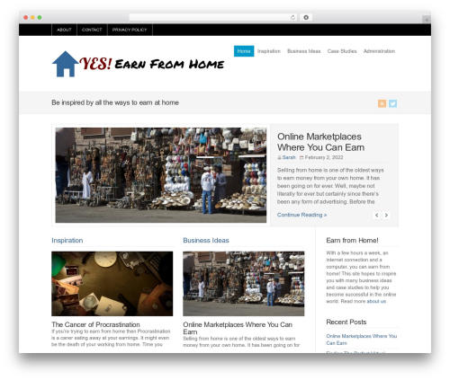 WP-Brilliance WordPress theme - yesearnfromhome.com