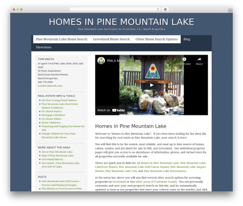 WordPress slider-pro plugin - homesinpinemountainlake.com