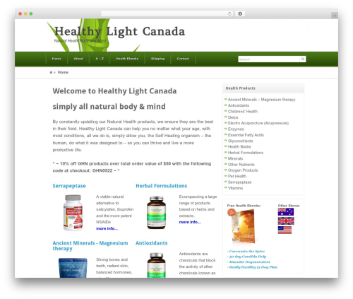 Akita best WordPress theme - healthylightcanada.com