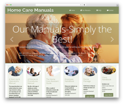 Avante FD WordPress theme - homecaremanuals.com