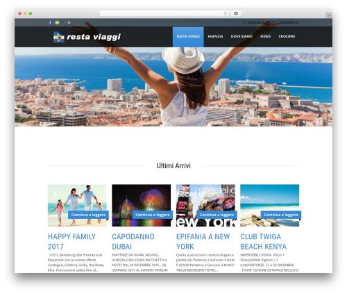Best WordPress template Tour Package - restaviaggi.it