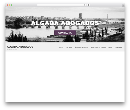 Best WordPress theme SKT White - algabaabogados.com