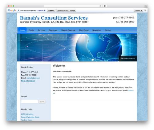 Customized company WordPress theme - ramahconsultingservices.com