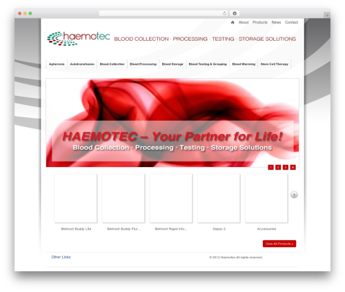 Emporium WordPress theme - haemotec.co.za
