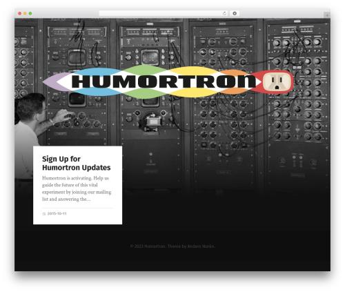 Garfunkel WordPress theme - humortron.net