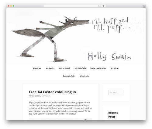 GeneratePress template WordPress free - hollyswain.co.uk