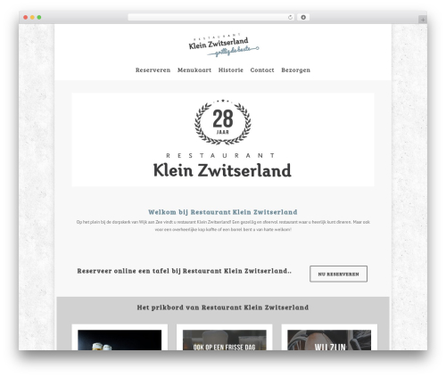 Salient theme WordPress - restaurantkleinzwitserland.nl
